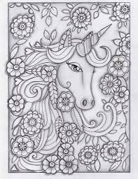 Unicorn Greyscale Drawing Unedited Unicorns Unicorn Coloring
