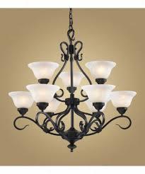 landmark lighting 257 bk buckingham 9 light two tier chandelier in matte black with white