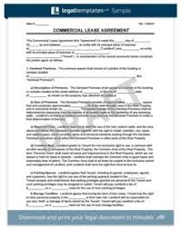 Free Commercial Lease Agreements Forms Commercial Lease Agreement Legal Templates