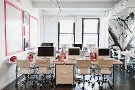 Image Interior Workspaceu2026 Officelovin Inside Nylon Magazines New York City Offices Officelovin