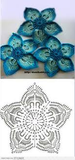 Crochet Flower Pattern Extraordinary Just The Diagram Lots Of Beautiful Crocheted Flowers On This Page