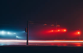 Stop Light At Night Traffic Lights In The Night Fog On Behance