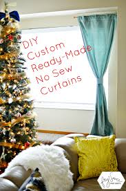 Diy No Sew Curtains How To Customize Store Bought Curtains With No Sew Tape