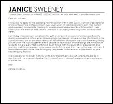 Wedding Consultant Cover Letter Sarahepps Com