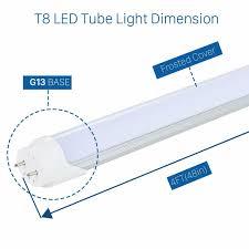 Great Value T8 T12 Led Light Bulbs Led 4ft 4 Foot T8 T12 Tube Light Bulb 18w 6000k Clear Or Milky Lens G13 Dual End