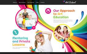 Kids School Website Template Art School Website Template
