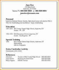 sample resume grandview high school college access high school resume format