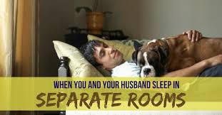 sleeping in separate rooms when married