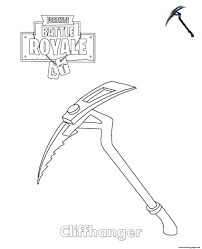 Cliffhanger Fortnite Coloring Pages Printable