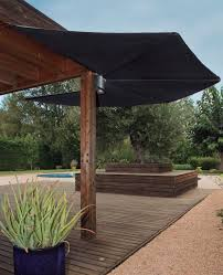 wall mounted patio umbrella polyester stainless steel aluminum om by andreu carulla