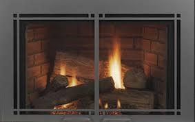 Monessen Harmony Rectangular Contemporary Fireplace Door in Vintage Iron.jpg