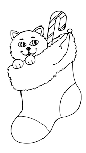 Best Christmas Kitty Coloring Pages 5913 Christmas Kitty Coloring