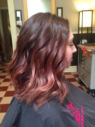 Short Brunette Ombré Rich Warm Brown