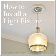 how to hang a light fixture 2