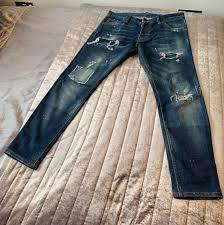 Mens Designer Jeans Size 46 Dsquared2 Blue Denim Cool Guy Jeans Size 46 30w 32l