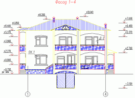 Курсовой проект по архитектуре Коттедж чертеж в autocad Студентик Курсовой проект по архитектуре Коттедж чертеж в autocad
