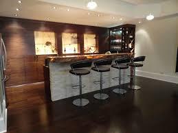 Modern Walnut Basement Bar modern-basement