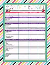 Budgeting Spreadsheet Free Free Printable Monthly Budget Worksheet Meal Planners Pinterest