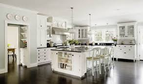 Kitchen With Wood Floors Kitchen Modern White Kitchens With Dark Wood Floors Powder Room