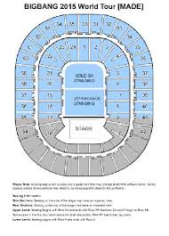 Melbourne Rod Laver Arena Seating Chart Exclusive Bigbangs Sydney Melbourne Concert Ticket
