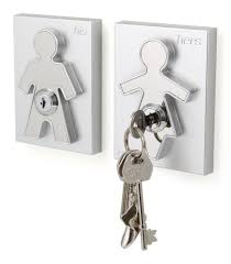 decoration: Awesome Key Hook Shaped Man Side Key Hook Shaped Women Fit To Cool  Key