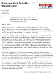 Rental Lease Letters Rent Reduction Request Letter