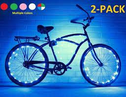 Bike Tire Lights Bike Wheel Lights 2 Pack Colorful Light Accessory For Bike Perfect For Burning Man Festivals Blue