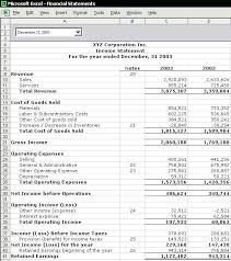 excel income statement income statement excel financial income statement template sample