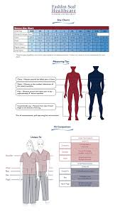 Fashion Seal Unisex Scrubs Size Chart