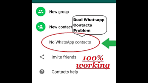 Fix Dual Whatsapp Contacts Not Showing ...