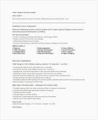 Caregiver Resume Template Amazing Caregiver Resume Template New Resume Templates And Examples Best