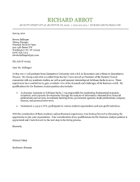 Intern Cover Letter Student Cover Letter Example Sample