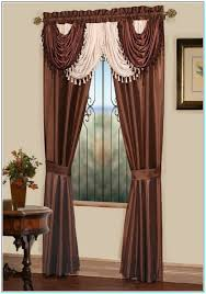 how to make attached valance curtains