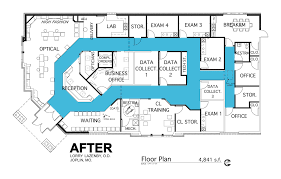 design office floor plan. Floor Plan Case Study Barbara Wright Design Pertaining To Optometry Office Plans