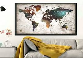 full size of world map print tapestry wall hanging art decoration decor awesome amazing canvas decorating