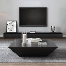 modern black wood coffee table with