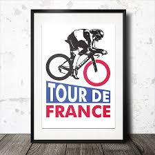 tour de france cycling poster gifts for cyclists