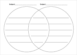 Blank Venn Diagram Printable Double Venn Diagram Template Askwhatif Co