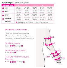 Esprit Size Chart Us Mediven Mondi Esprit Compression Arm Sleeve Without Hand