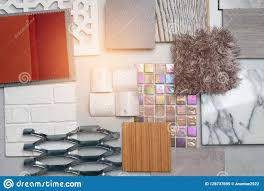 Free Interior Design Product Samples Samples Of Material Wood On Concrete Table Interior