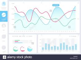Web Design Charts Graphs Dashboard Infographic Template With Modern Design Annual