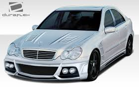 01-07 Mercedes C Class W-1 Duraflex 7 Pcs Full Body Kit!!! 108298 ...