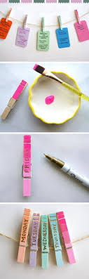 diy organization ideas for teens. DIY Clothespin Daily Organizers Diy Organization Ideas For Teens R