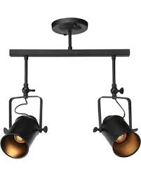 ceiling mount track lighting. Adjustable 2-Lights Black Track Lighting, Semi Flush Mount Ceiling Lighting M