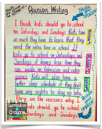 opinion writing launch lesson boy did we have fun today k  shared writing this is another good anchor chart that can be made between the teacher and students it represents what an opinion piece looks like
