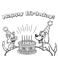 Happy birthday coloring pages sheet for boys cartoons mom sheets. Free Printable Happy Birthday Coloring Pages For Kids