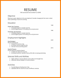 6 How To Make Resume For First Job With Example Monthly Budget