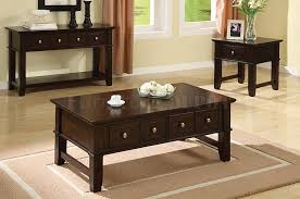 delicate lines coffee table and end table sets available natural oak from important finishing amaretto finishing