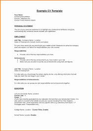 Resume Examples And Format Valid Personal Profile Format In Resume