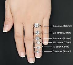 1 carat diamond size 13 best carat comparison images on pinterest engagements rings